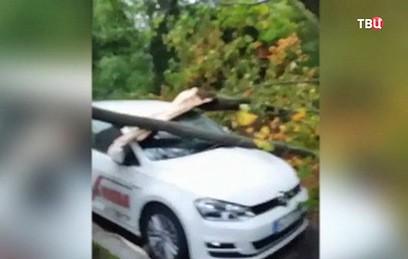 """Жертвами мощного циклона """"Ксавьер"""" в Германии стали семь человек"""
