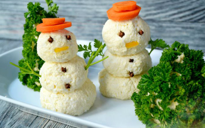 "Закуска ""Снеговики"" на любой вкус!"