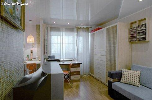 Угловая хрущевка с балконом дизайн