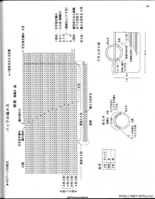 Корзинка и сумки крючком из полиэтиленовых пакетов (43) (543x700, 225Kb)