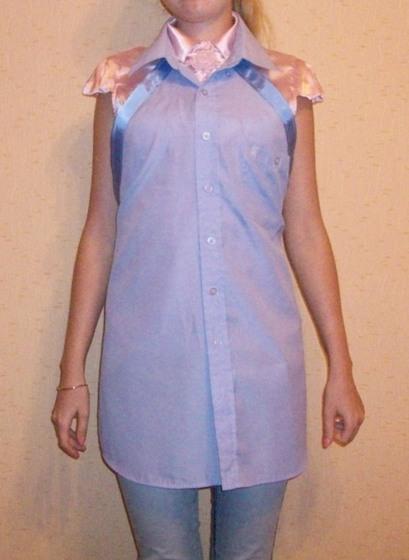 Фартук из старой рубашки