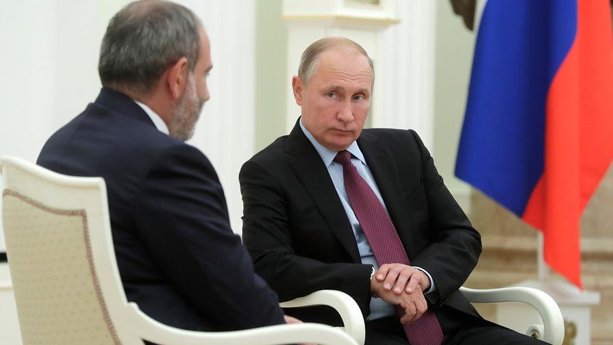 Путин планирует встречу с премьером Армении
