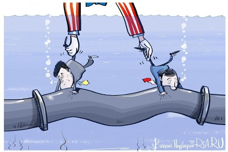 Бандеровцы договорились с пиндосами совместно пакостить «Северному потоку – 2»