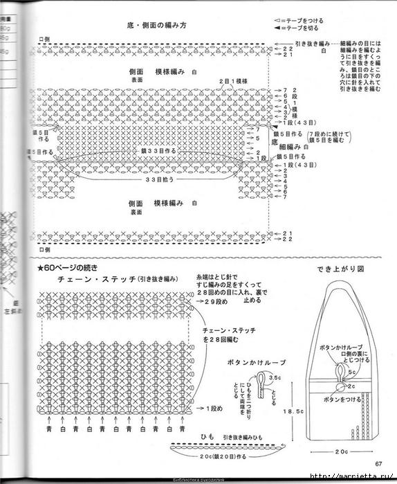 Корзинка и сумки крючком из полиэтиленовых пакетов (63) (574x700, 255Kb)