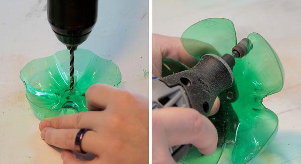 Абажур из пластиковой бутылки своими руками