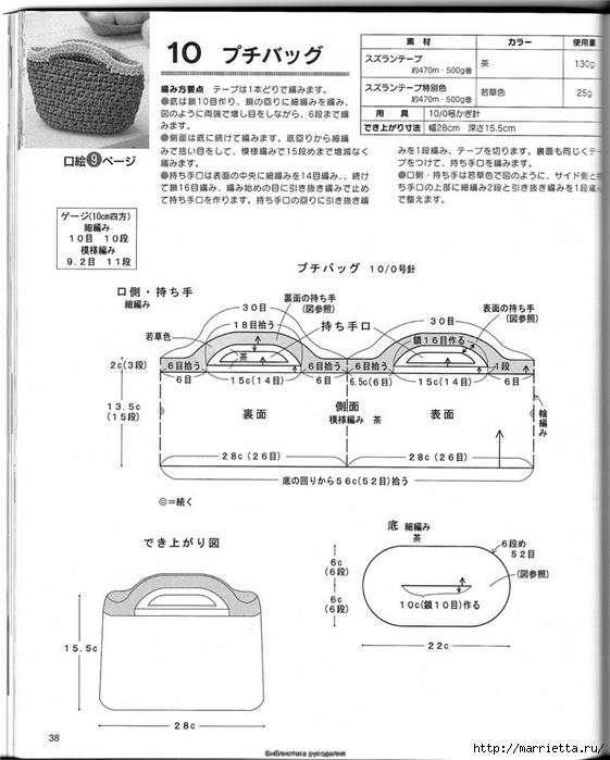 Корзинка и сумки крючком из полиэтиленовых пакетов (35) (561x700, 192Kb)