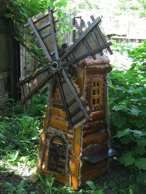 Декоративная мельница для сада своими руками -…