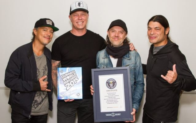 METALLICA Earns Spot In 'Guinness World Records' 2015 Edition