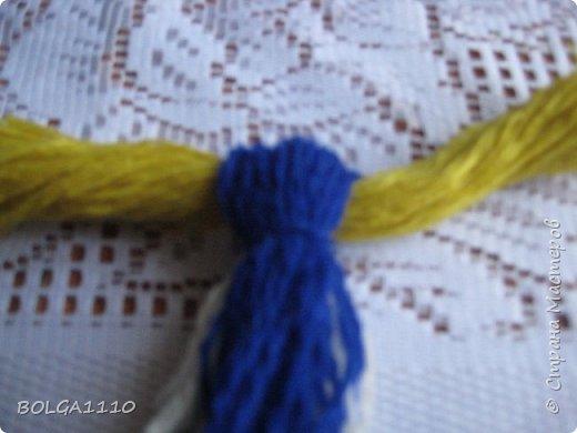 Мастер-класс Поделка изделие Синичка Бусины Клей Проволока Пряжа Семена фото 6