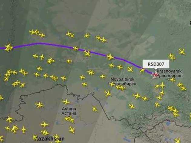 Владимир Путин прилетел в Красноярск с рабочим визитом