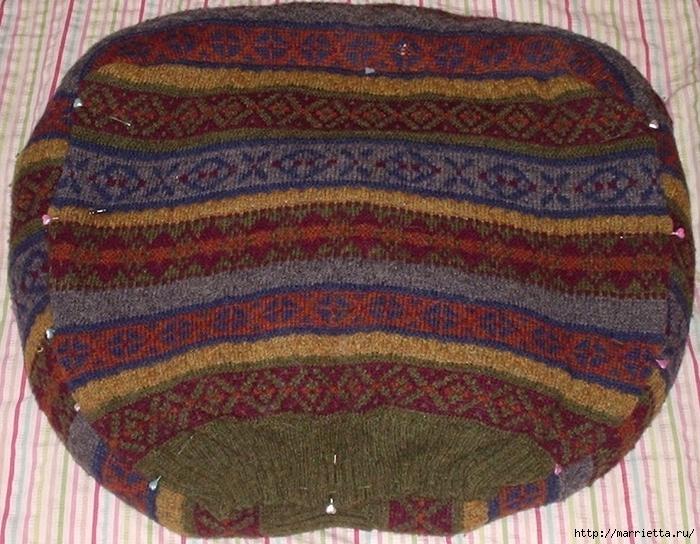 Cuna de gato de un viejo suéter.  Master Class (8) (700x544, 351KB)