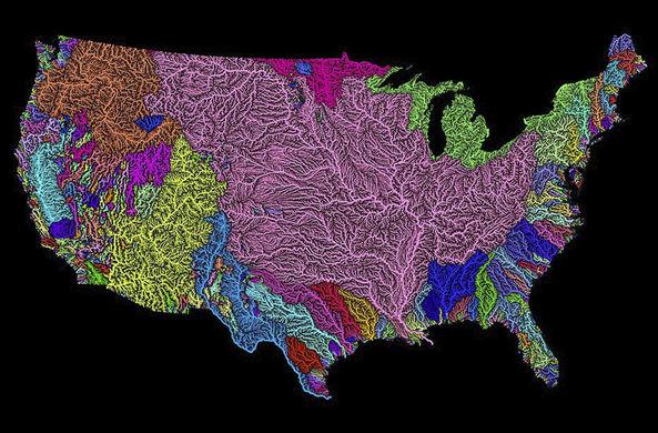 Аналитик составил необычную карту рек мира