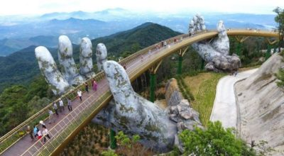 Мост ,захватывающий дух, только что открыт во Вьетнаме, и это похоже на что-то от Властелина колец
