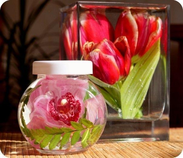 Как сохранить цветы при помощи глицерина