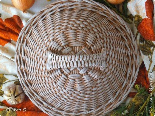 Мастер-класс Поделка изделие Плетение Корзины для овощей - Бумага газетная Трубочки бумажные фото 8