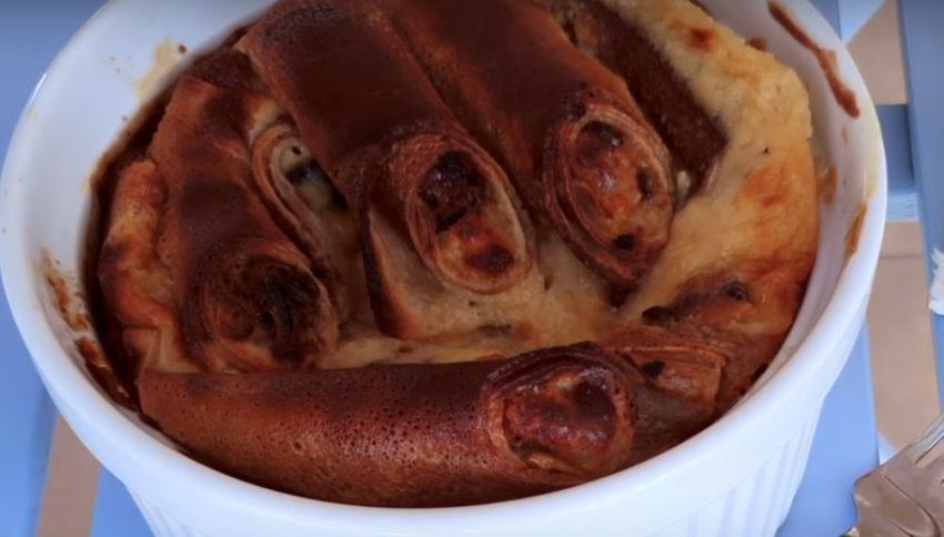 Обалденные блины с творогом в сметанном суфле