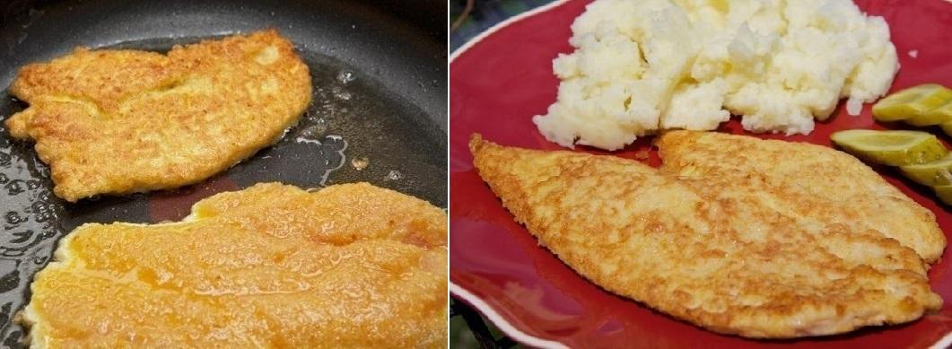 Картинки по запросу Сочные, в хрустящей корочке куриные шницели к ужину