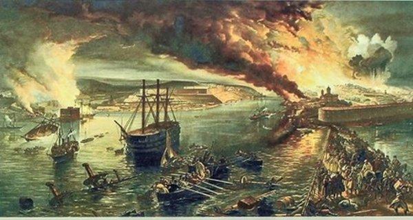 Бастионы взорваны, остатки флота отправлены на дно