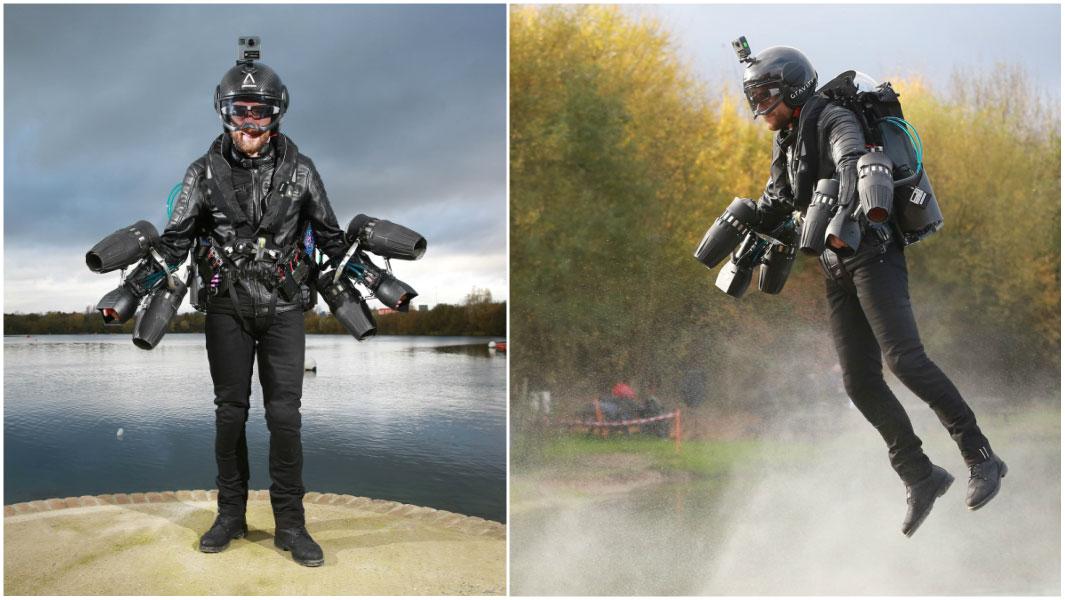 Британец установил новый мировой рекорд скорости в летающем костюме