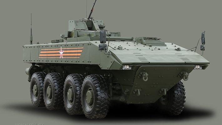 БМП «Бумеранг» хотят вооружить модулем «Кинжал» с ракетами «Атака»