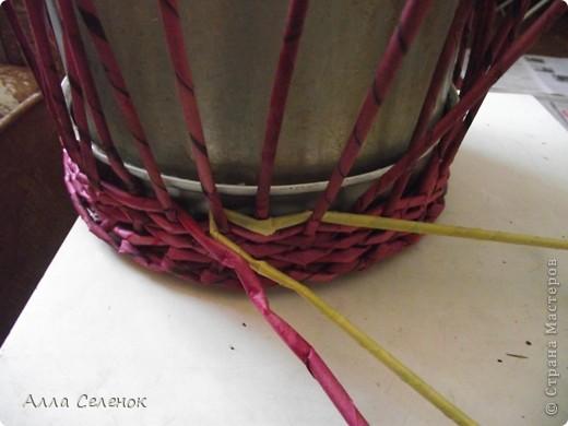 Поделка, изделие Плетение: МК.КАШПО. Бумага газетная. Фото 5