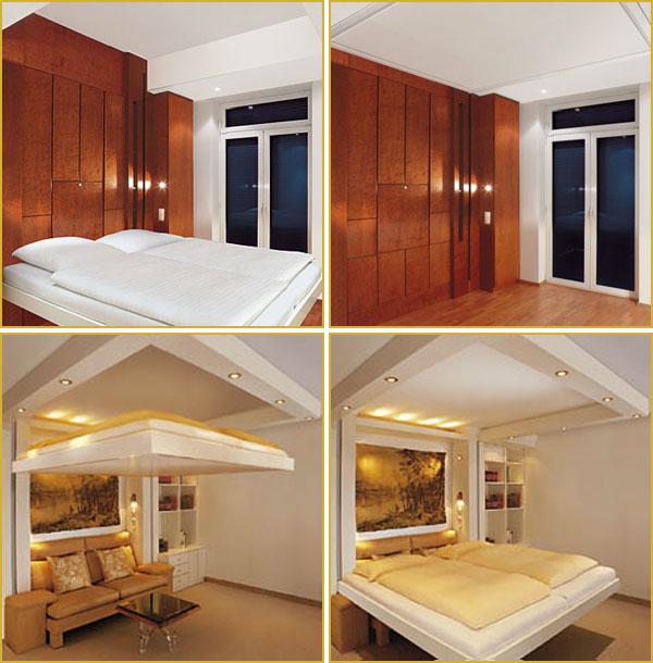 Кровать лифт в интерьере