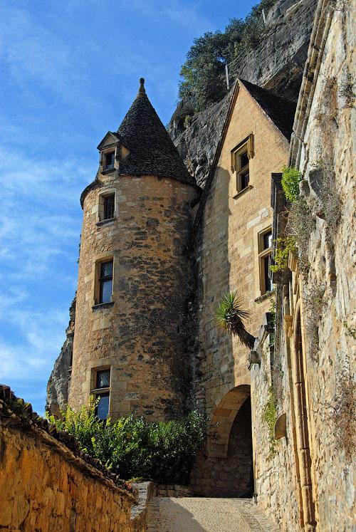 Деревня La Roque Gageac во Франции