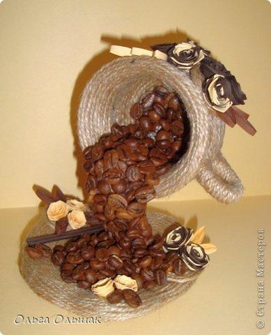 Кружка из кофейных зерен своими руками