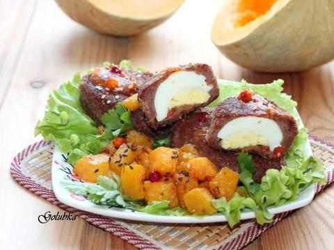 Фасолевые зразы с тыквой и вареным яйцом recipe step 13 photo