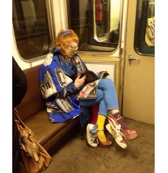Вивьен Вествуд в московском метро?