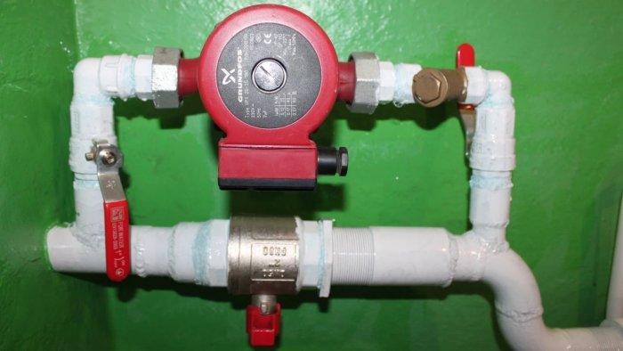 Установка циркуляционного насоса в систему отопления с помощью байпаса