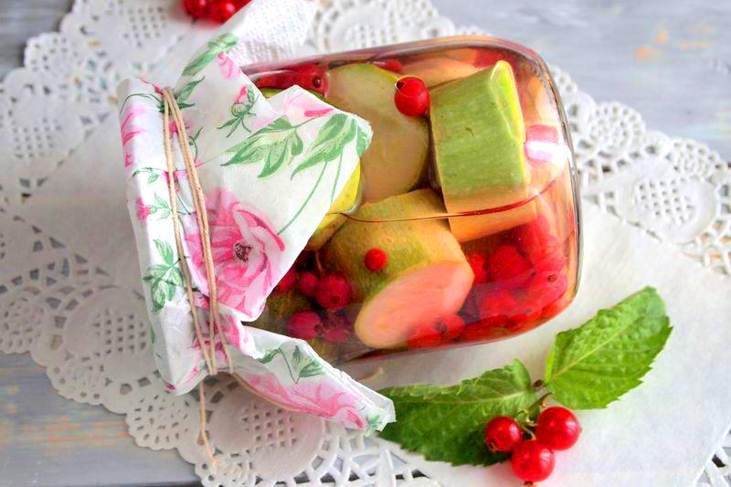 Кабачки с красной смородиной - вкуснейшая заготовка на зиму без уксуса