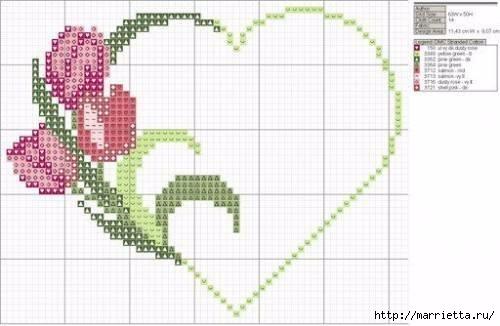 Вышиваем розы на скатерти и салфетках. Схемы (4) (500x326, 83Kb)