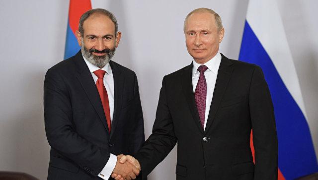 Путин провел переговоры с Пашиняном