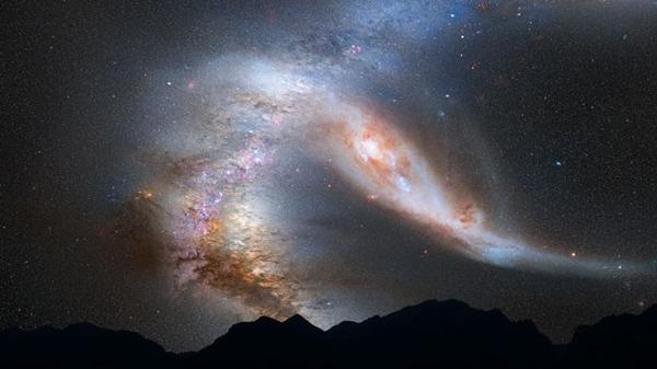 Столкновение Млечного Пути и Галактики Андромеды
