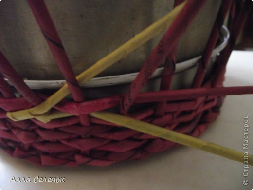 Поделка, изделие Плетение: МК.КАШПО. Бумага газетная. Фото 8