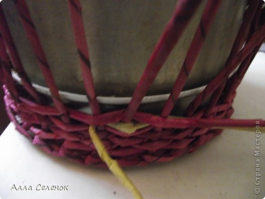 Поделка, изделие Плетение: МК.КАШПО. Бумага газетная. Фото 6