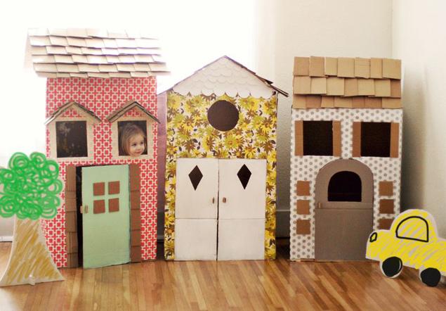 Дома из картона своими руками фото