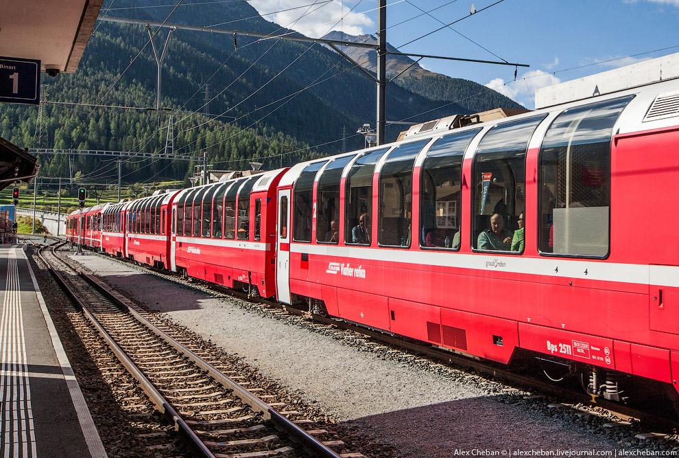 Красивейшие железные дороги Швейцарии