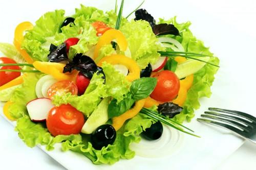 Овощные салаты с маслом и с
