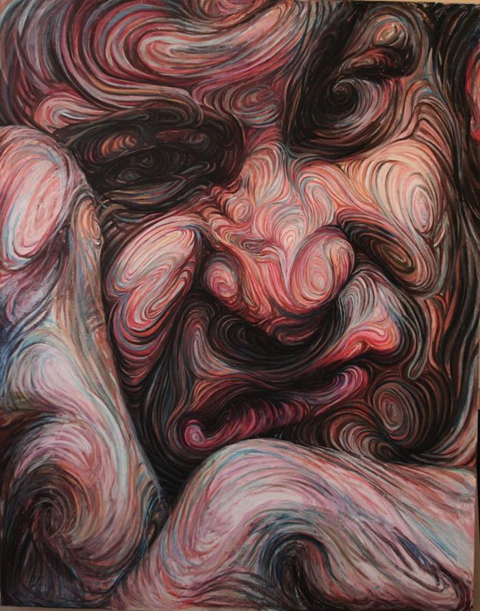 Картины Nikos Gyftakis. Психоделические полотна греческого художника