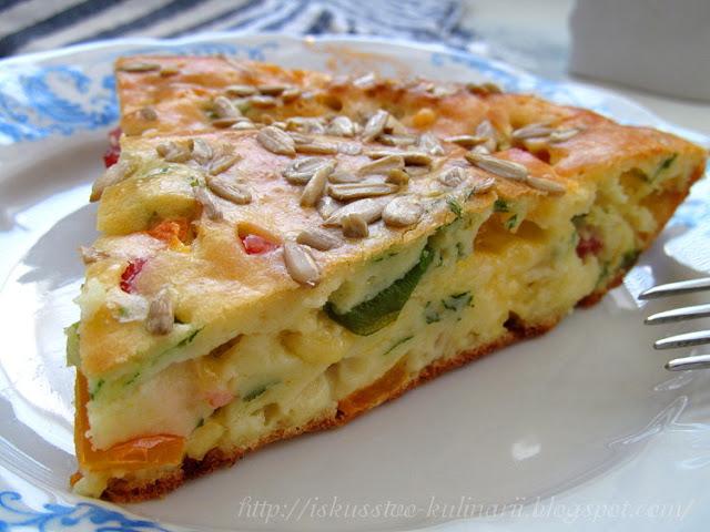 Быстрый и универсальный закусочный пирог