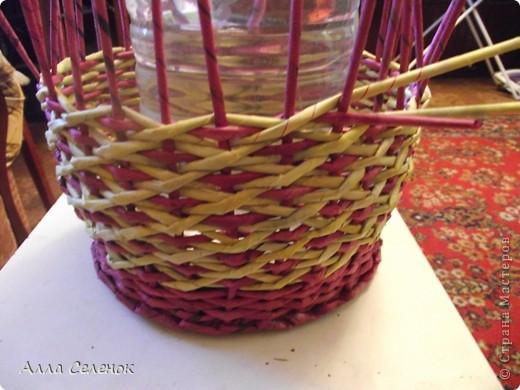 Поделка, изделие Плетение: МК.КАШПО. Бумага газетная. Фото 11