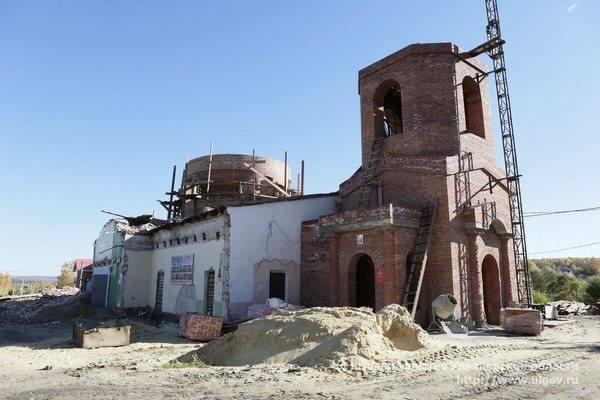 В Воскресенской церкви Павловского района Ульяновской области завершается строительство колокольни