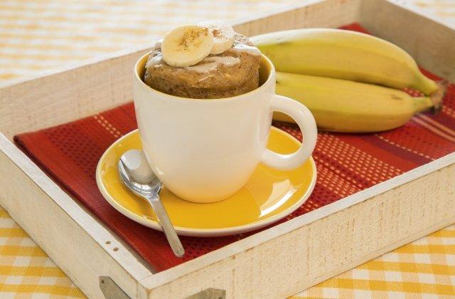 Банановый пирог в кружке