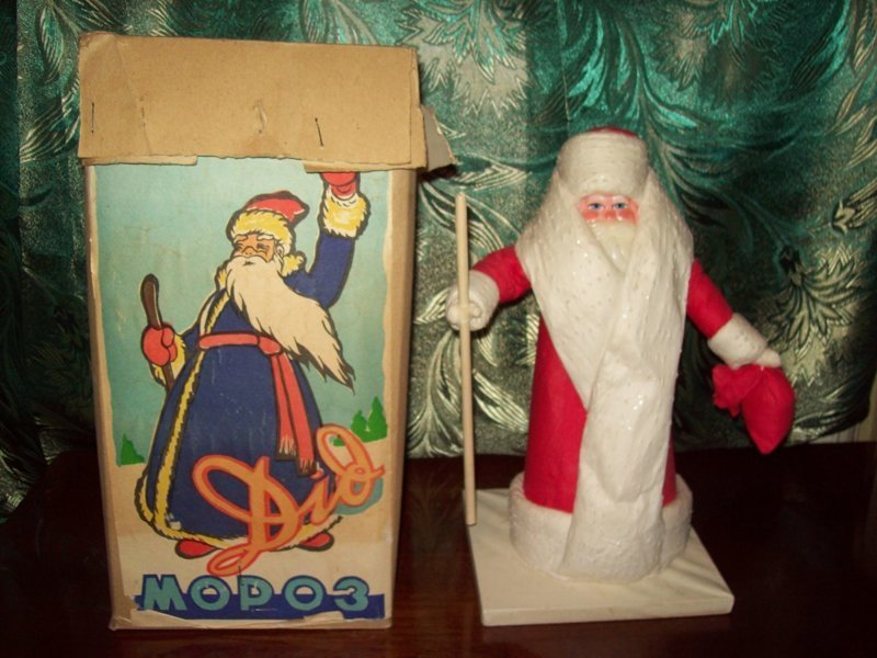 Дед Мороз воспоминания, новый год, праздник, советские ёлочные игрушки, фото, ёлка, ёлочные игрушки
