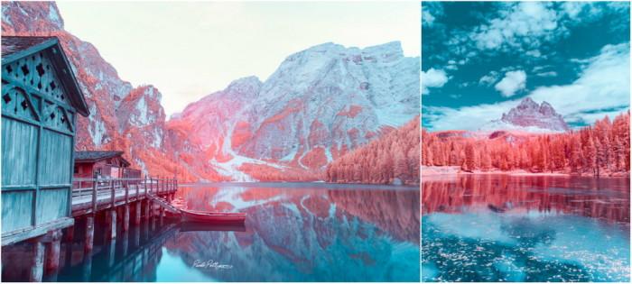 Доломитовые Альпы в инфракра…
