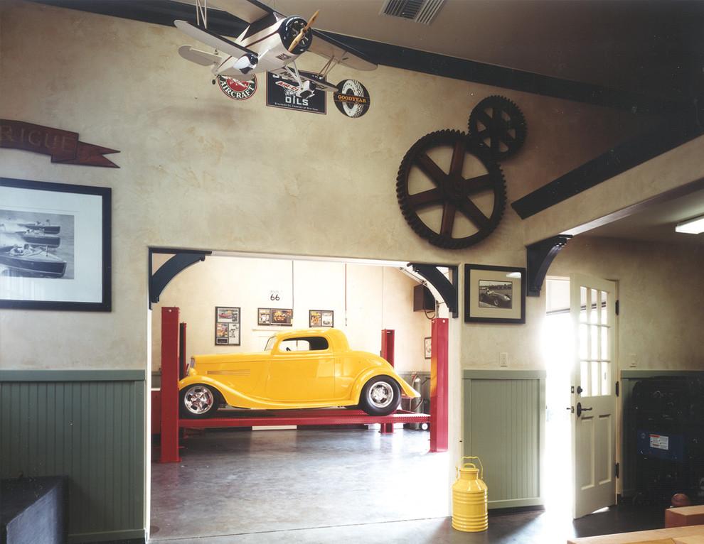 Интерьер гаража в ретро стиле