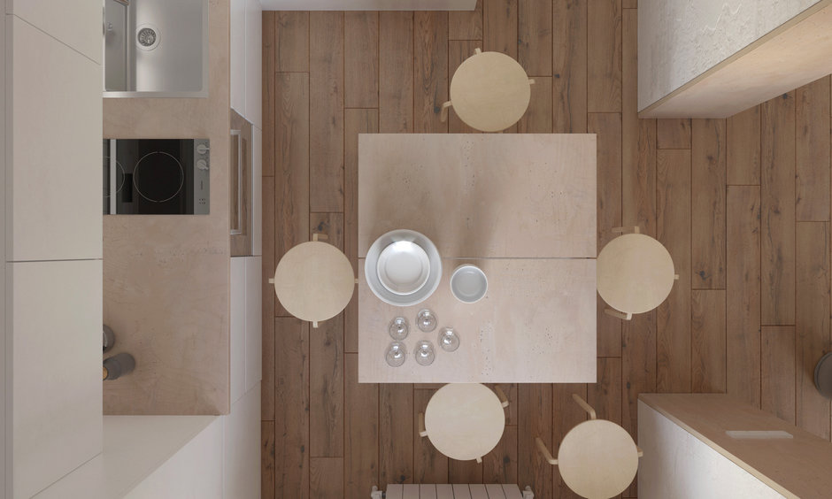 Фотография: в стиле , Квартира, Проект недели, Хрущевка, 1 комната, до 40 метров, Находка, KDVA Architects – фото на InMyRoom.ru