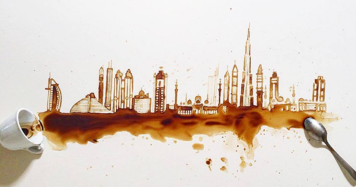I Found This Artist Creating Beautiful Art Scenes With Coffee And Tea, And It's Amazing!